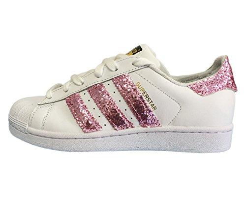 08e4b5227c1 Adidas superstar | Scarpe ginnastica Bianche con Tessuto Glitter Rosa