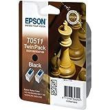 Epson Stylus Color 1520 C (T0511 / C 13 T 05114210) - original - 2 x Tintenpatrone schwarz - 2.000 Seiten - 24ml
