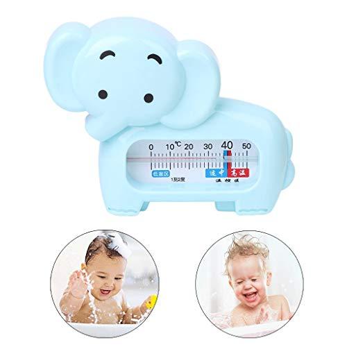 Vektenxi Badethermometer - Niedliches Cartoon-Elefanten-Form-Baby-Badethermometer, Kleinkinder-Kleinkind-Duschspielzeug Grün Langlebig und praktisch