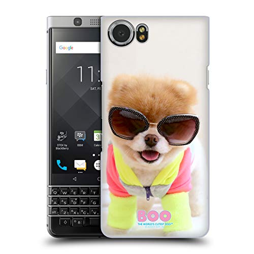 Head Case Designs Offizielle Boo-The World's Cutest Dog Neon Sonnenbrillen Harte Rueckseiten Huelle kompatibel mit BlackBerry KEYone/Mercury