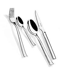 Idea Regalo - Monix Set di 24 Posate in Acciaio Inox con Coltelli per Bistecca
