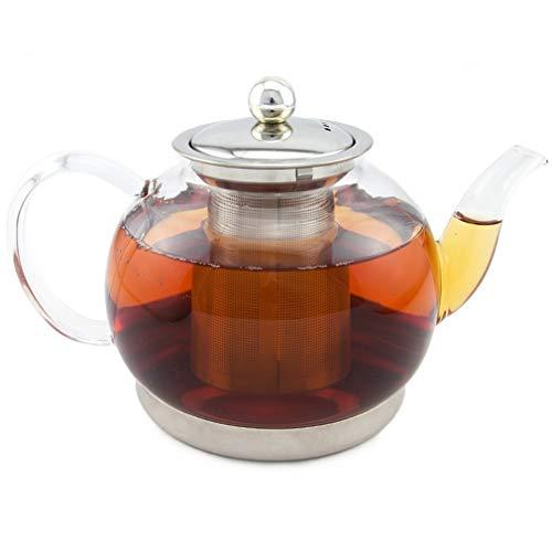 Toyo Hofu klar Glas hitzebeständig Teekanne mit-Ei, Induktion Herd Wasserkocher Drücken pot, durchsichtig, 1200ml
