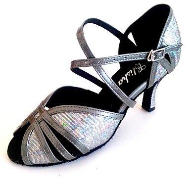 Silence @ Femme Latin Talon de santal Lady Chaussures de danse Plus de couleurs doré