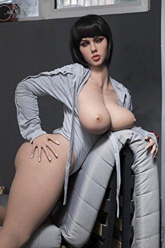 Sexpuppe Lebensechte Liebespuppe Real Girl Erwachsene Puppen Love Doll Sex Doll Silikon Material TPE mit realistisch 3 Öffnungen Blowjob Anus Sex Vagina Sex Spielzeug für Männer(Fettes Gesäß#163cm)