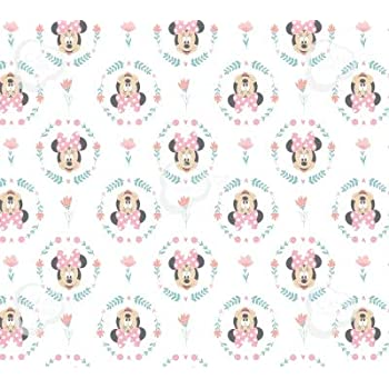 Fabric Arts Crafts Disney Pink Striped Minnie Mouse Daisy Duck