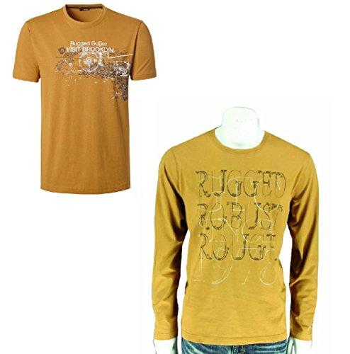 Preisvergleich Produktbild GIN TONIC Herren T-Shirt Langarmshirt RF Farbe Curcuma 2er Pack L