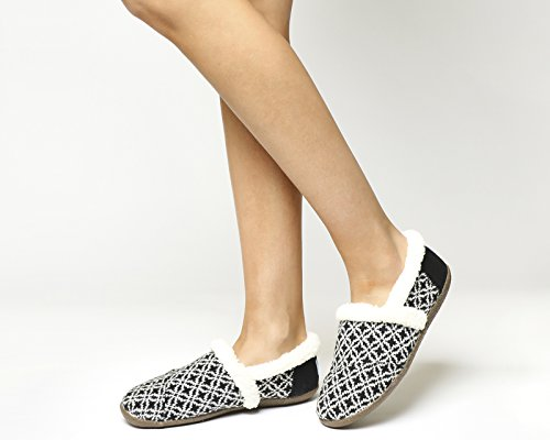 Toms Toms Slipper Blackwhite Fair Isle - 5 UK