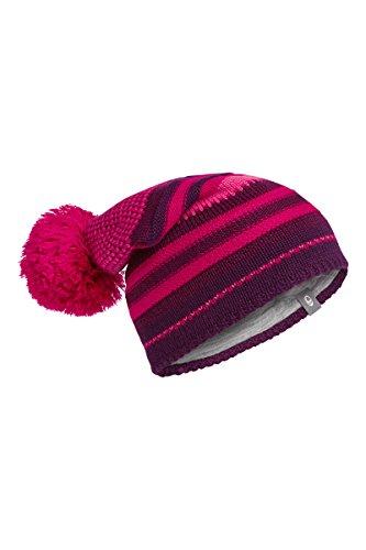 Icebreaker Chateau Kopfbedeckungen, Merinowolle One Size Rosa - Vino/Raspberry/Maroon - Merino Knit Hat