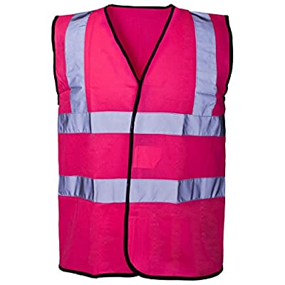 Expert Workwear Hi Vis Coloured Vest Waistcoats Vests - Yellow Orange Pink Green Navy : everything £5 (or less!)