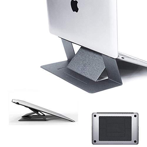 EliveSpm Unsichtbarer Laptopständer,Tragbarer Faltbarer Notebookhalter Tablet-Ständer ultraleichter, Ergonomischer Laptop-Ständer Höhe einstellbar Kompatibel mit MacBook für Schreibtisch Tabelle