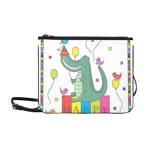 d Cactus Pattern Benutzerdefinierte hochwertige Nylon Slim Clutch Cross Body Bag Schultertasche ()