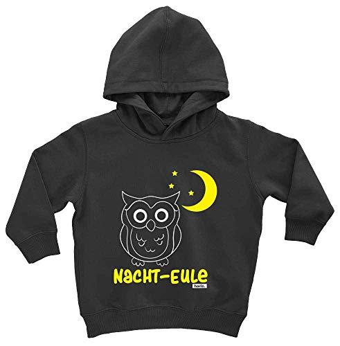 HARIZ Baby Hoodie Nacht Eule Süß Tiere Dschungel Plus Geschenkkarte Pinguin Schwarz 1-2 Jahre (Nacht Eule 2 Kostüm)