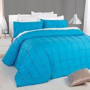 600tc Tröster–1Stück Faser Füllen 200gsm Italienisches Finish türkis/Blaugrün Blau massiv Farbe Euro King IKEA Größe 100% ägyptische Baumwolle–by Exklusive Bettwäsche (Italienische Bettwäsche Aus Ägyptischer Baumwolle)