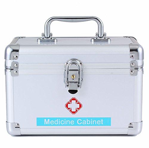 Multi-female medizinische metall fall mit schloss medizinische notfall aufbewahrungsbox lagerung medizinische sammlung (10 in)