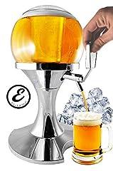 Idea Regalo - EGLEMTEK Spillatore Distributore Dispenser Birra E Bevande Refrigerante A Forma di Bolla Sferica con Scomparto Ghiaccio capacità 3.5 Litri Erogatore Birra 25,5 x 25,5 x 41,5 Cm