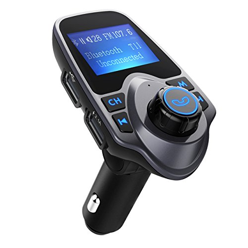 FM Transmitter, OMorc Wireless Bluetooth MP3 Player Car Kit, Universal Car Charger with Dual USB Charging Ports,Hands Free Calling, TF/SD Card Slot, USB Drive Port for iPhone etc