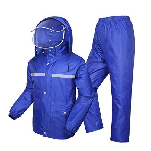 Golf Regen Kleidung (Wiederverwendbare Regenkleidung (Regenjacke und Regen Hosen Set) Erwachsene wasserdicht regendicht Winddicht mit Kapuze Outdoor Arbeit Motorrad Golf Angeln Wandern Jagd (größe : 5XL))