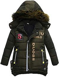 XXYsm Mantel Winter Kinder Junge Jacke Jacke Warme Outwear Mit Kapuze Steppjacke Coat Kapuzenmantel