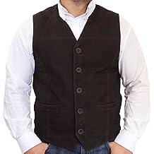 28661515301904 RICANO 321, Herren Lederweste/Trachtenweste aus echtem Leder in  Verschiedenen Farben (Wildleder: