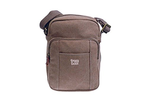 Troop London, Borsa a tracolla donna multicolore Multicolour Small Brown