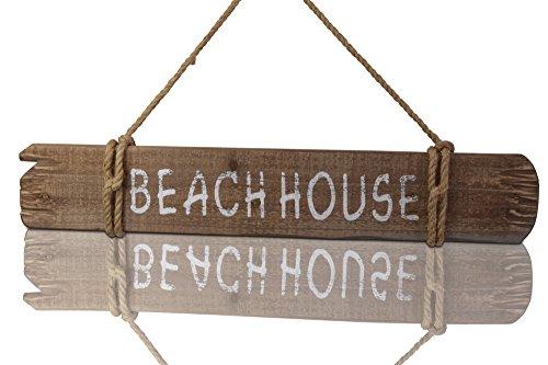 8 CHICCIE Deko Holz Schild Beach House Mit Juteband