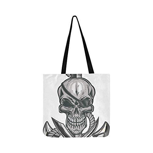 Eine Seil-Wunde Anker Canvas Tote Handtasche Schultertasche Crossbody Taschen Geldbörsen für Männer und Frauen Einkaufstasche