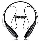 Oppo Joy R1001 compatible MAGNETIC Bluetooth Waterproof Attractive BLACK Neckband Headphone with noice isolation