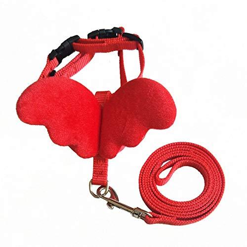 HermosaUKnight Simpatici collari di guinzaglio per Cani Pet Set per Piccoli Animali Regolabili per Cani con Cinturino in Nylon con Cinturino in Nylon Accessori per Animali-Rosso