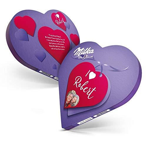 Chocolat personnalisé - Coeur Milka personalisé avec prénom et texte - Fait avec amour YourSurpris