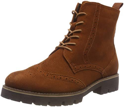 CAPRICE Damen 25209 Combat Boots, Braun (Cognac Oily Su 353), 38 EU (Wildleder Stiefel Cognac)