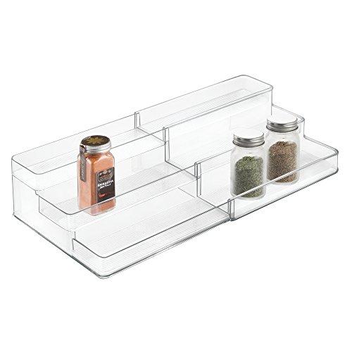 17 99 mdesign gewrzregal fr kchenschrank und arbeitsflche ausziehbarer gewrzstnder aus. Black Bedroom Furniture Sets. Home Design Ideas