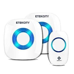 etekcity kit de sonnette sans fil port e de transmission de 300m 4 r glages du volume 52. Black Bedroom Furniture Sets. Home Design Ideas