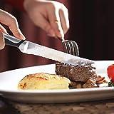 Homgeek Steakmesser Set, 6 Stück Fein Gezahnte Steakmesser, Aus Edelstahl mit Ergonomischem Griff - 4