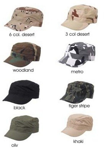 US Army BDU Feldmütze Outdoor Cappie Armee Sportcappie Mütze Kappe in verschiedenen Ausführungen