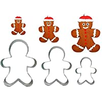 3 Gingerbread Man Cookie Cutter Biscuit Egg Fondant Mould Cake Sugarcrft Decorating Xmas