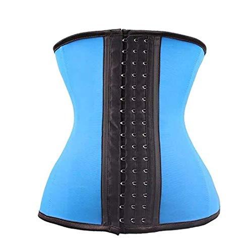 hloridfaser-Interlock-Band Taillen-Trainer/Bauchformbekleidung/Korsett - Bequeme Bauchkontrolle - Blau - XX-Large ()
