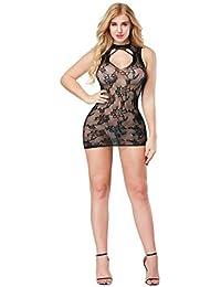 Ropa Sexy De Mujer Erotica Conjunto LenceríA Vestido Transparente De La  Ropa Interior De Bodycon De Bodycon De La Malla… a8971e19e38d