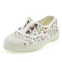 Natural World - Zapatos con Flores - Blanco