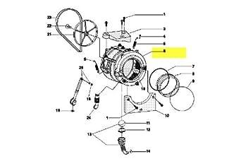 INDESIT - CUVE ENSEMBLE PLASTIQUE 52 L H=20 - C00145181