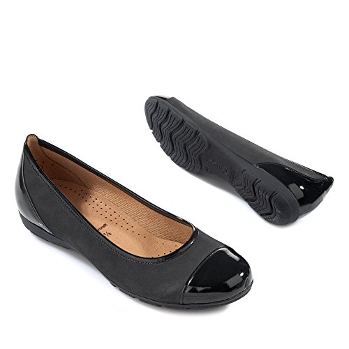 Gabor Fashion Damenschuhe 44.161 Damen Ballerinas Slipper Slip-On Schwarz UuWJAQu