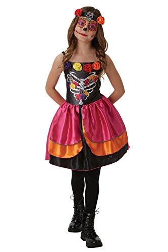 Zuckerschädel Tag der Toten - Mädchen Kostüm - Rubies - ZUCKERSCHäDEL, M / 110-116