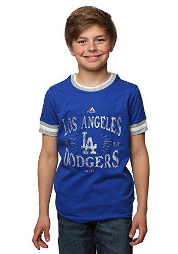 Los Angeles Dodgers Round the Bases Kids T-Shirt Medium
