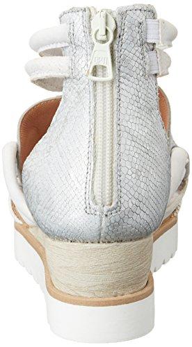 Mjus Damen 221006-0901 Sandalen Silber (Bianco+Argento+Bianco)