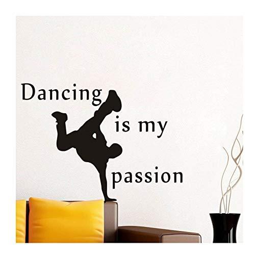 Tanzen ist meine Leidenschaft Wandaufkleber Kunst Aufkleber Vinyl für Home Party Wanddekorationen 60cm x 43cm