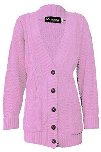 Fashion 4 Less - Gilet - Femme Rose - Rose bébé