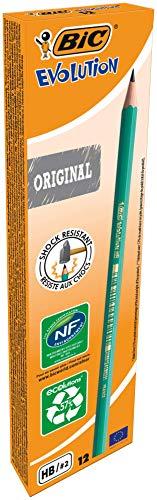 BIC Bleistift Evolution Original 650 HB, Schachtel à 12 Stück, grün
