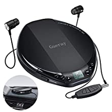 Gueray Lecteur CD Portable Walkman Hi-Res avec Casque pour Voiture Enfant
