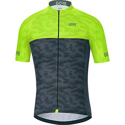 GORE WEAR C3 Herren Fahrrad-Kurzarmtrikot, Größe: M, Farbe: Schwarz/Neon-Gelb