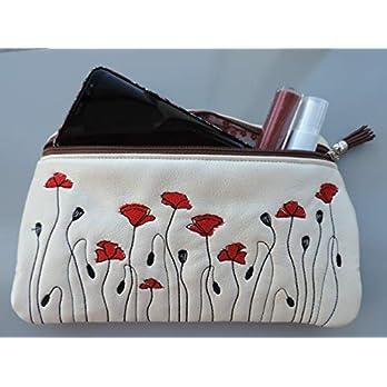 Bestickte Tasche mit Mohnblumen