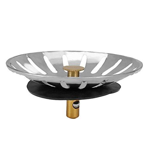 5 Stück Küchenspüle Stopper Küche Spüle Filter Ersatz Abflussstopfen Abflussstopfen Filter Abtropfsieb Deckel Abtropfkorb Edelstahl Küche Spüle Sieb